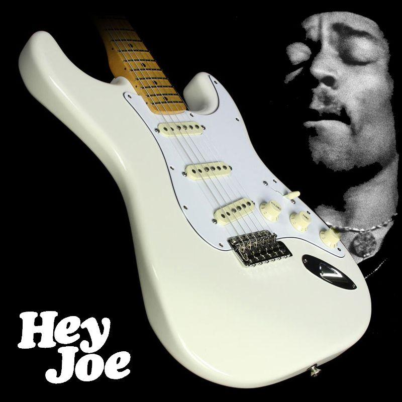 Jimi Hendrix Stratocaster Elektro Gitar Maun Vücut Nane Yeşil Kapak Tek Bobin Akçaağaç Boyun Ters Headstock