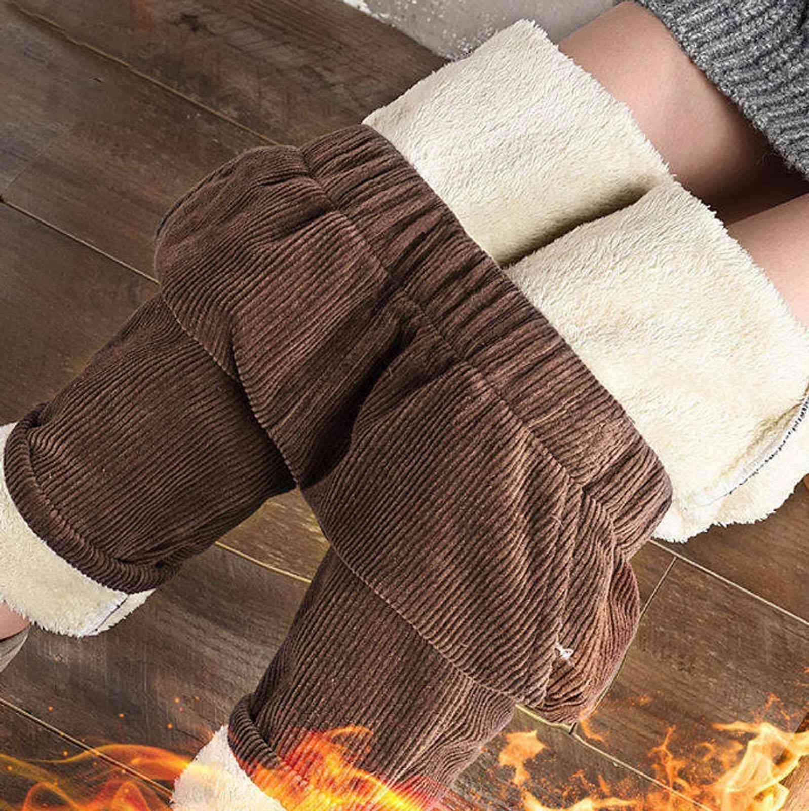 Gran tamaño de felpa gruesa de las damas casuales de las damas casuales Mantenga cálido Invierno Nuevo Cintura alta Harem Pantalones Mujeres Pantalones X31