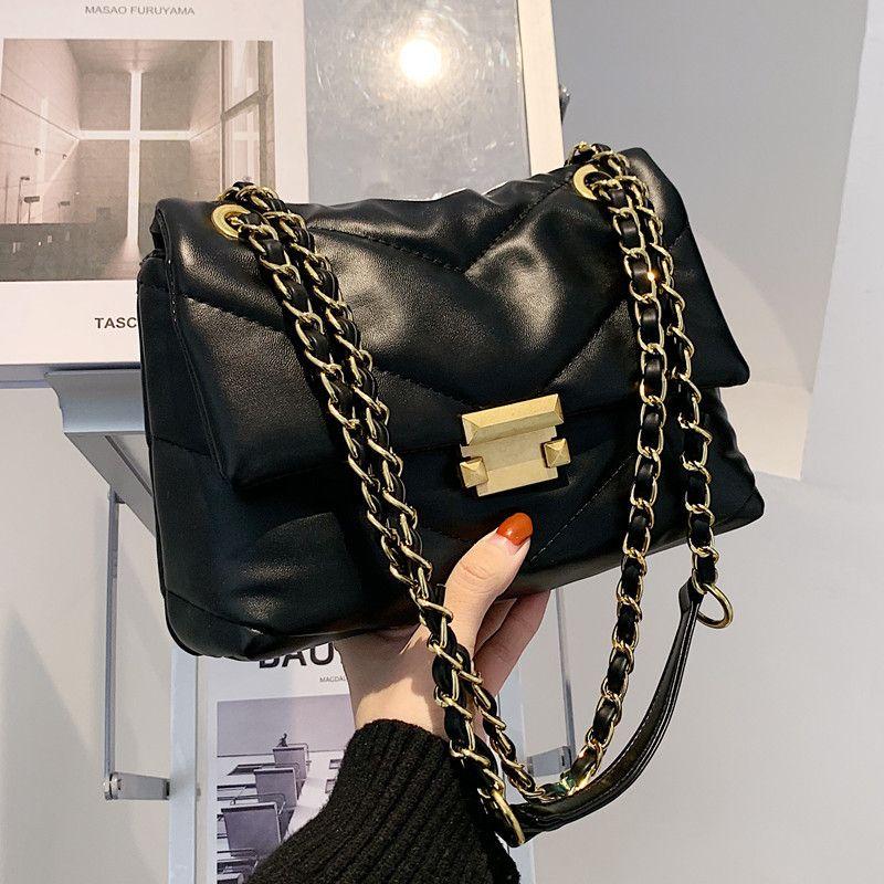 Kleine Kettenfrauen 2021 Neue Herbst Winter Fashion Nischen Design Eine Schulter Messenger Bag Vielseitig