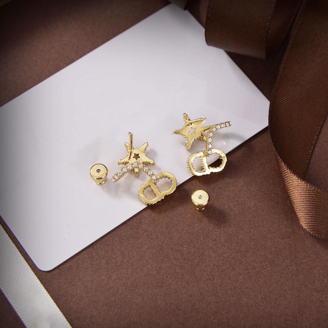ستار قلادة سحر الاسترليني الفضة مطلي مع 14K الذهب الماس مطلي يجب أن يكون هناك المواعدة والمهرجانات صديقة الهدية