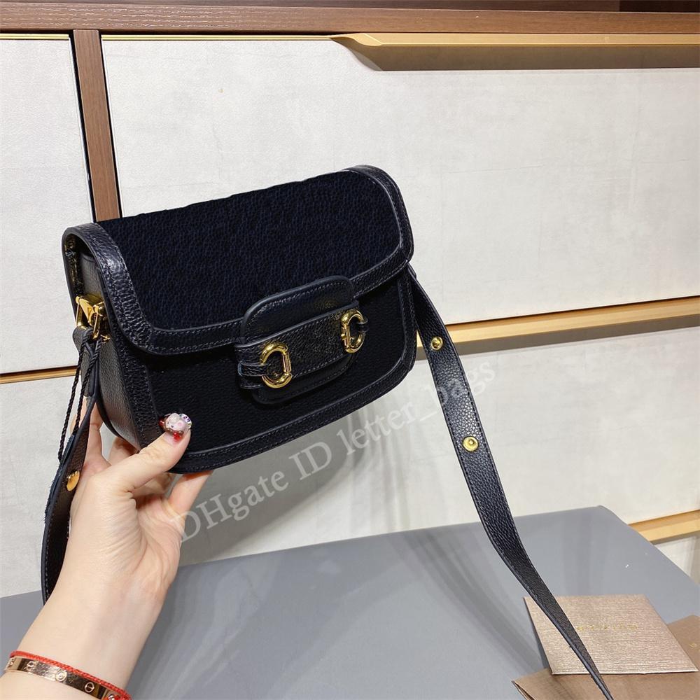 مزدوجة g 2021 سيدة حقائب الأزياء حقائب اليدين الأجهزة عادي زر الرجعية 1955 horsebit السرج الداخلي سستة جيب حقيبة crossbody الكتف