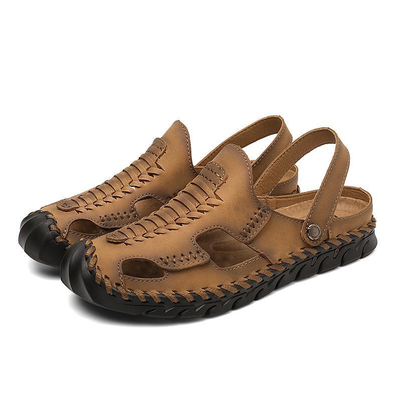 Sandálias Ao Ar Livre Masculina Verano Sapatos Deportivas da Sandali Beach Big Eta Esporte Rasteira Erkek Sandálias-Homens Masculino Cuir Cuero 2021