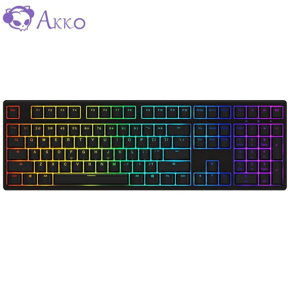 AKKO 3108 108 Keys USB Type-C Wired Gaming RGB Keyboard 85% PBT Keycaps AKKO Pink Switch For AKKO Mechanical Keyboard(Price includes VAT)