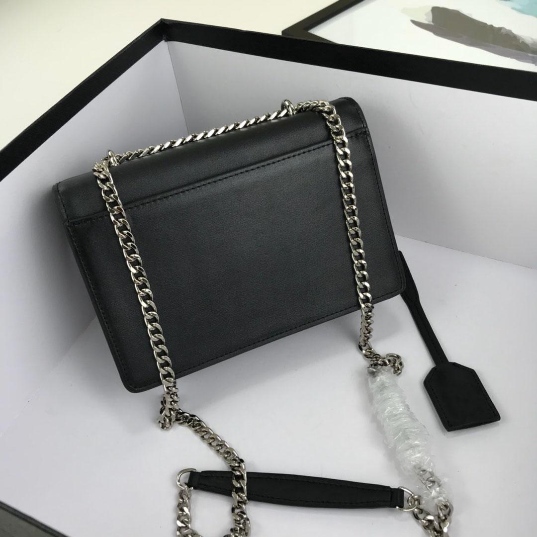 Vannogg مصمم حقائب اليد حقيبة جلدية عالية الجودة السيدات سلسلة الذهب والفضة يمكن أن تكون واحدة الكتف عبور الجسم lurxy السرج rea lqej ackxt مع مربع