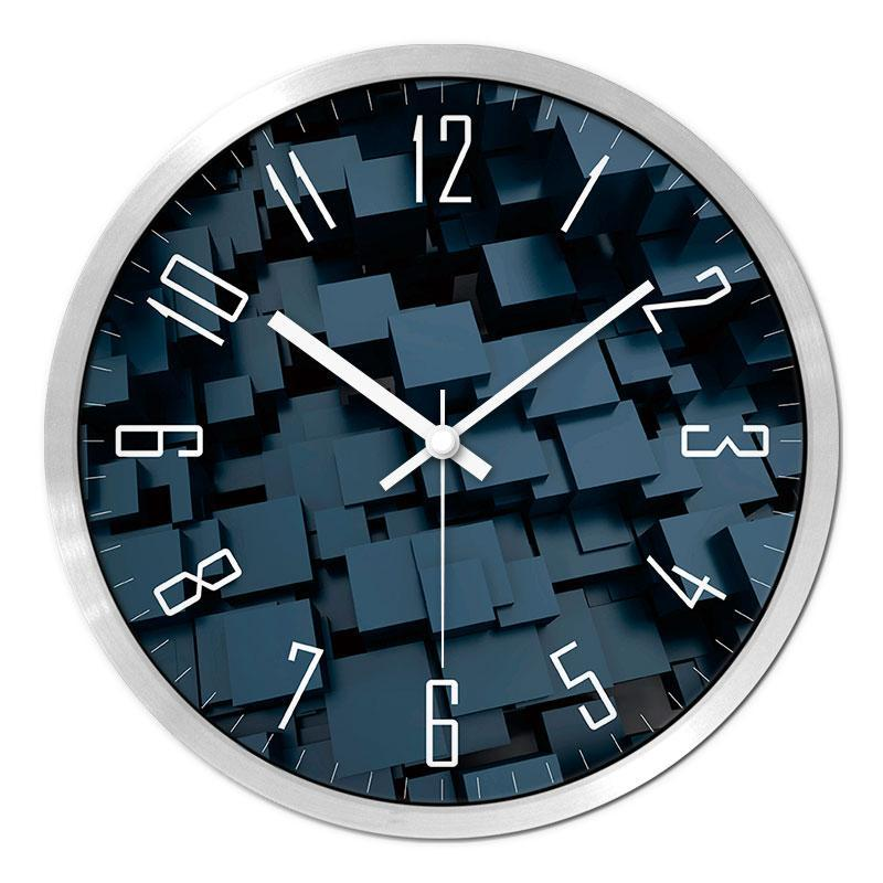 Wall Clocks 3D Felt Clock Home Decoration Watch Modern Design ,Quartz Sweep Movement Abstract Painting Gift 30.5cm
