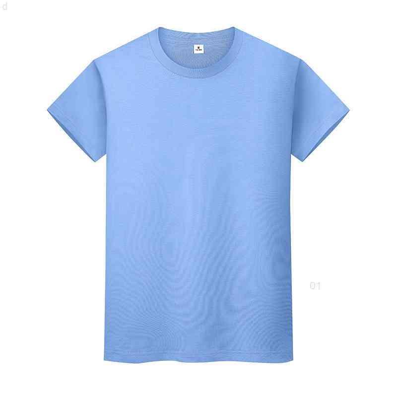 NUEVO Cuello redondo Color Sólido Camiseta de algodón de verano Camisa de fondo de manga corta para hombre y mujeres de manga corta 0911i