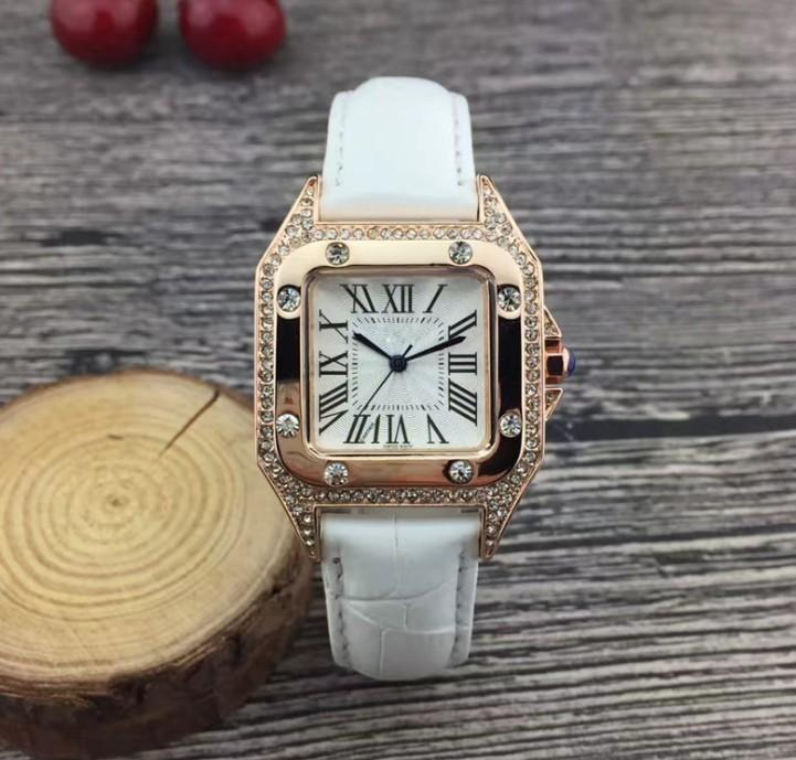 Diamond Robe cadeau Montres Sports Femmes Regarder bon Top Qualité Date Sport 38mm Bracelet brun bracelet dames bracelets de mode femme