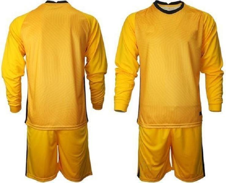 사용자 정의 모든 국가 팀 골키퍼 축구 유니폼 남자 긴 소매 골키퍼 유니폼 키즈 GK 어린이 축구 셔츠 키트