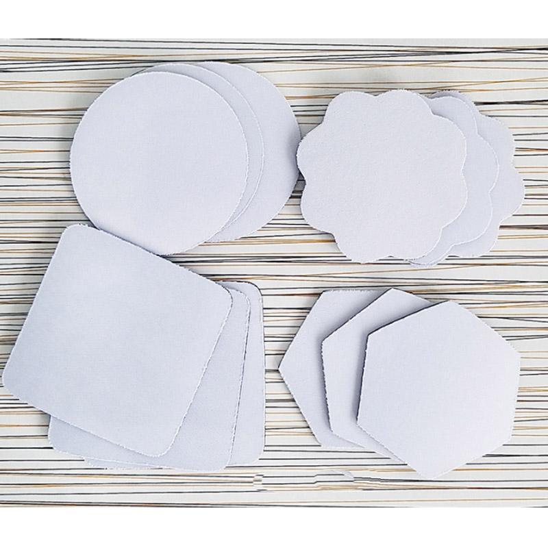 Gummi tyg Coaster Blank Sublimation Print Pads 100 stycken / mycket kan