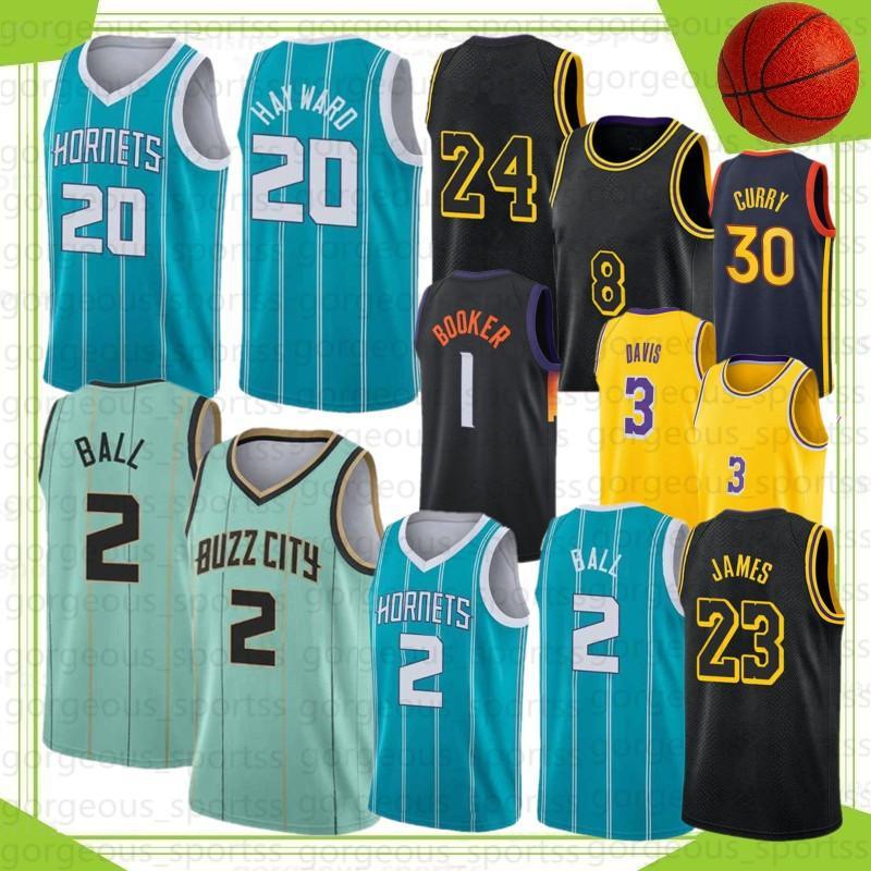 Lamelo 2 Ball Men Basketball Jerseys Gordon 20 Hayward Green Devin 1 Booker Anthony 3 Davis 23 Giannis 34 Antetokounmpo Stephen 30 Curry