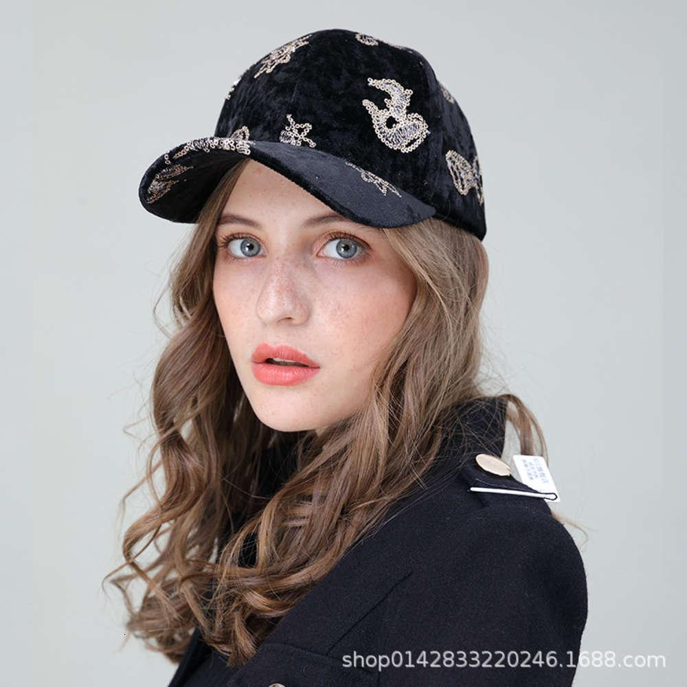 Hat Sequin flannel baseball women's autumn and winter leisure sports