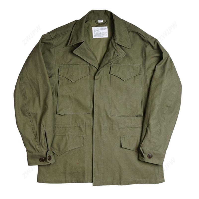 육군 녹색 야외 M43 재킷 윈드 브레이커 유니폼 퓨어 코트 스타일 코치 모자