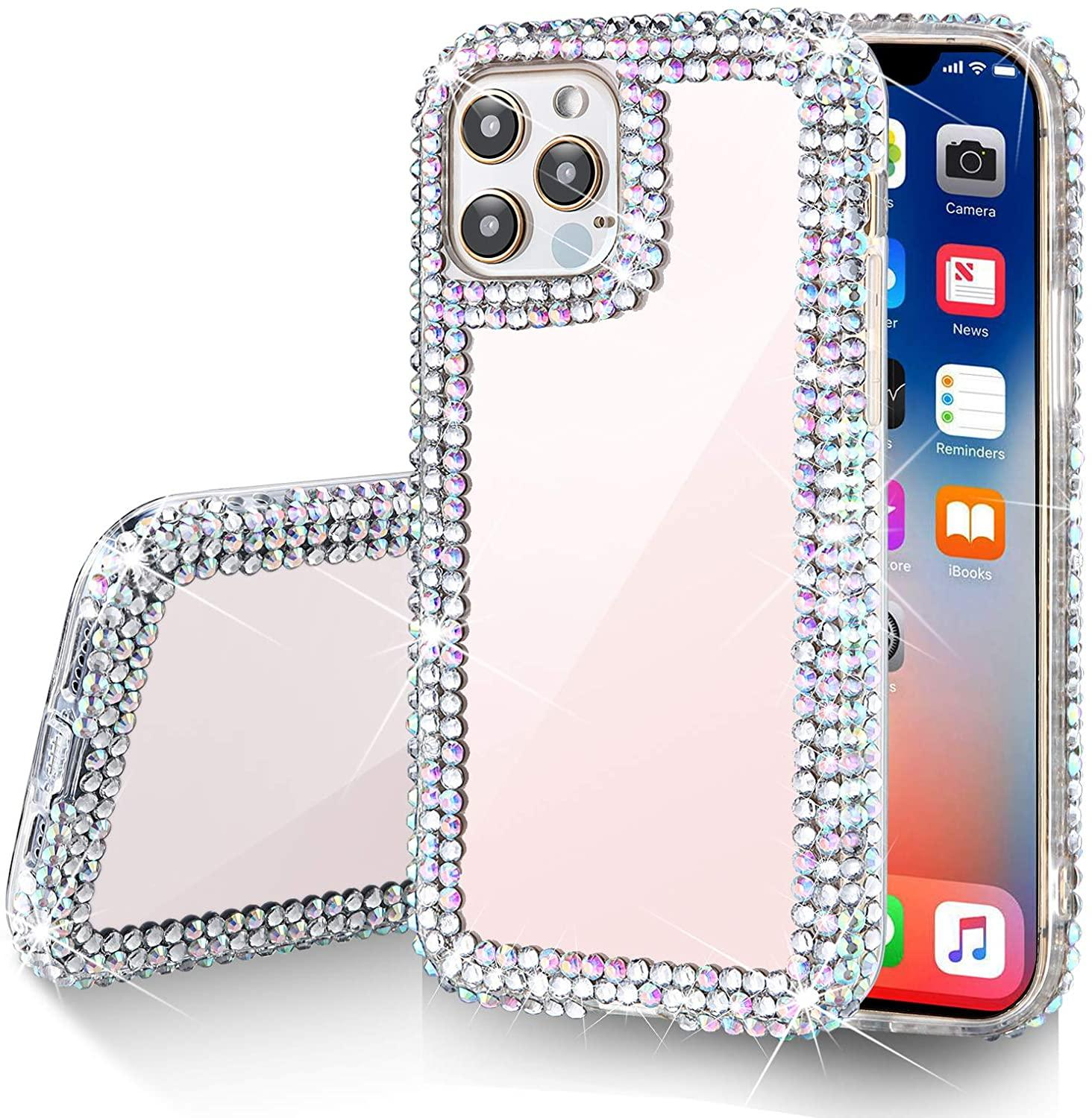 Luxury Diamond Glitter Bling Crystal TPU Cell Phone Cases For iphone 6 7 8plus Xr Xs 11 12 Pro Max