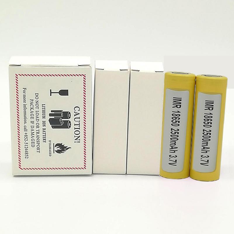 LG HE4 18650 batería 2500mah 35A 18650 Cargadores de batería para la caja mod FedEx de la mejor calidad 18650 plana