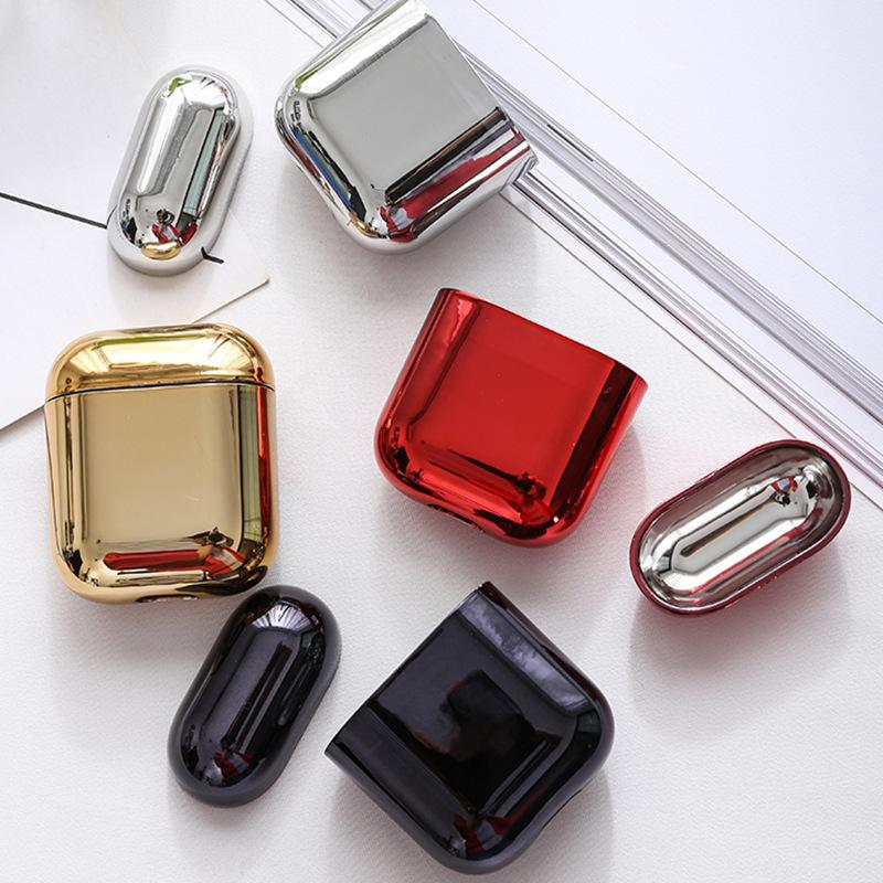 Suitable for airpods electroplating wireless Bluetooth headset protective cover Apple second generation PC Case headset box