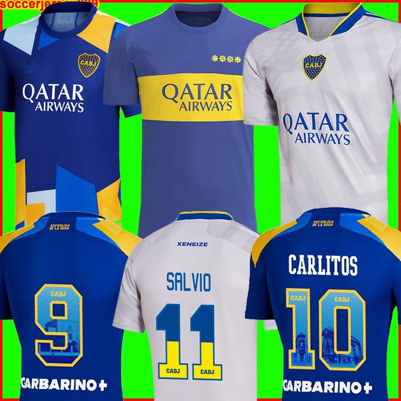 Boca Juniors futbol forması 2021 2022 CARLITOS MARADONA TEVEZ DE ROSSI 21 22 spor futbol forması erkek + çocuk kiti setleri üniformalar ev üçüncü 3rd