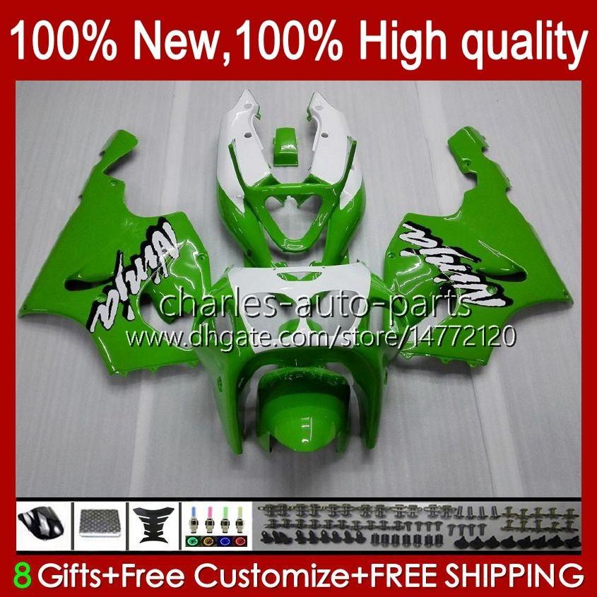 Carrosserie Lichaam voor Kawasaki Ninja ZX-750 ZX7R ZX750 ZX 7 R Groen wit Nieuw 96 97 98 99 2000 2001 2002 2003 28HC.16 ZX 7R ZX 750 ZX-7R 1996 1997 1998 1999 00 01 02 03 OEM Fairing