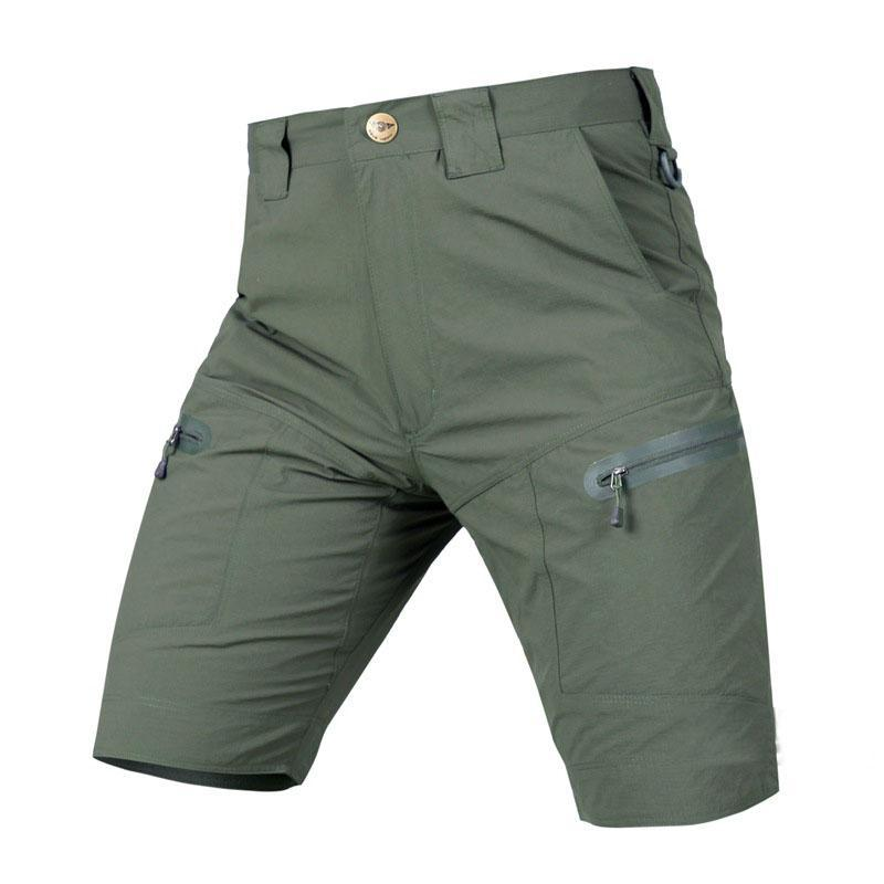 Quick Seco Shorts Tactical Homens Verão Militar Militar Sólido Sólido Casual Carga Curto Mens Ao Ar Livre Desgaste De Desgaste Swat Combate Men's
