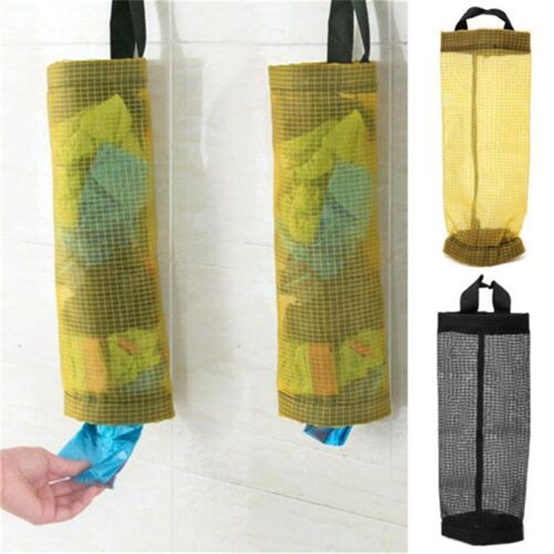 Storage Bags 2 Colors Home Grocery Bag Holder Wall Hanging Kitchen Dispenser Plastic Organizer