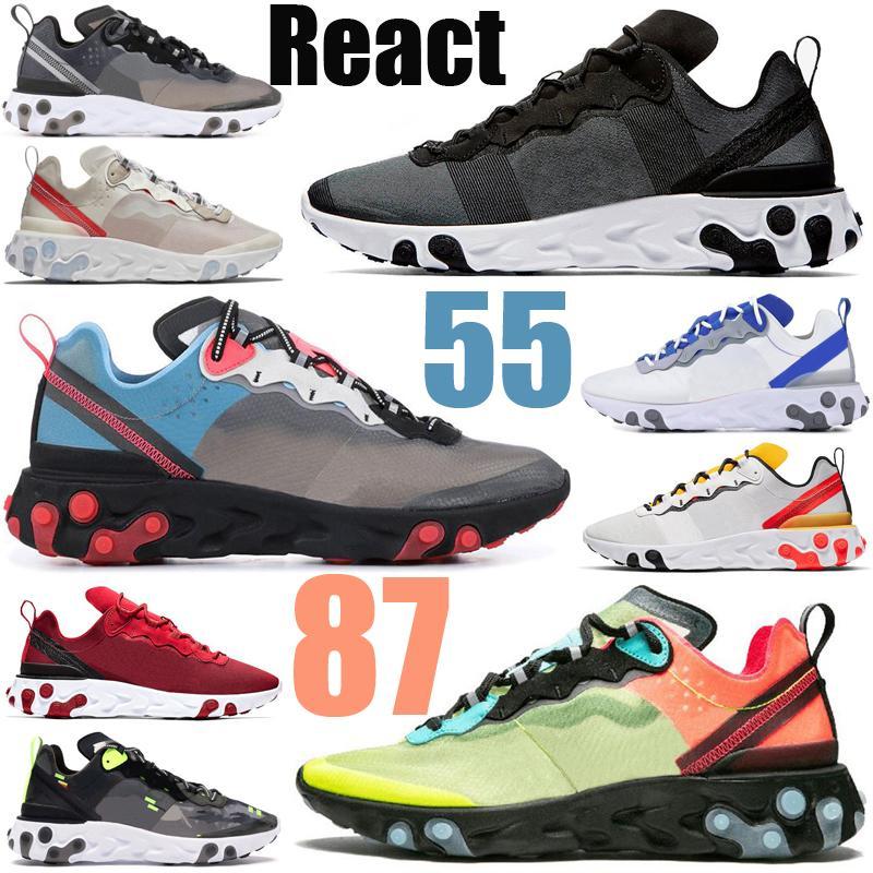 реагирует зрение элемент 55 87 фондовой x мужчины женщины кроссовки тройной черный спортивные мужские женские кроссовки спортивные кроссовки бегунов