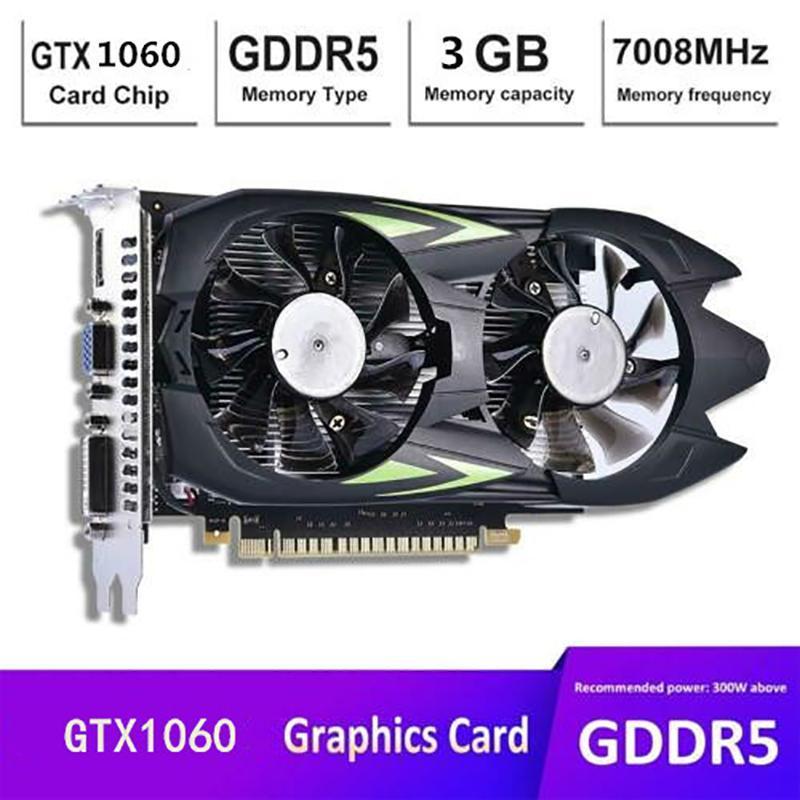 In magazzino! GTX1060 Carta grafica 3G DDR5 Desktop Computer Game Indipendente ad alta definizione all'ingrosso