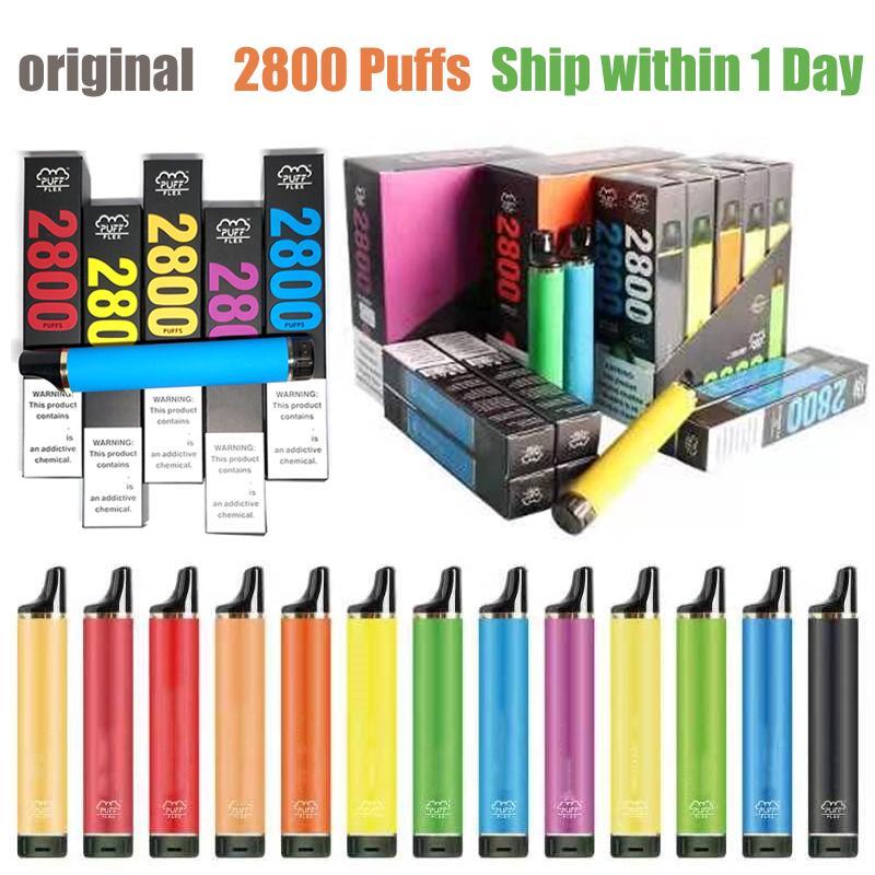 퍼프 플렉스 2800 퍼프 Diipsosable vape e 담배 850 mAh 배터리 8ml 미리 채워진 공기 흐름 제어 Bang XXL Duo Plus Air Bar Max