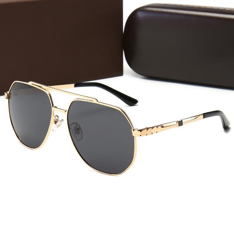 Diseñador Gafas de sol para hombre Mujeres Polarizadas Escudo de moda Vintage Retro UV400 Glasses Glassas