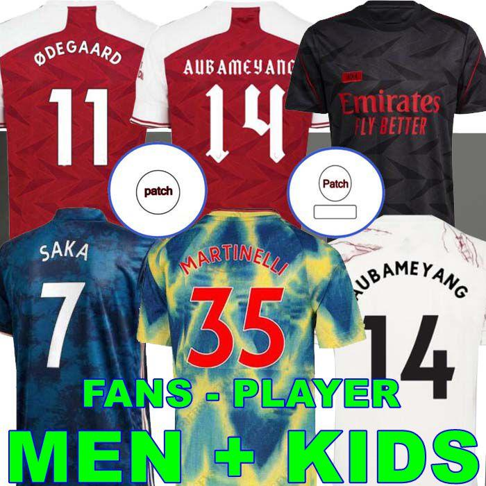 Arsenal Fan Player versione 424 Arsen Soccer Jersey 20 21 Odegaard Pepe Saka Nicolas Tierney Henry Willian Thomas Nketiah Maitland Niles2020 2021 Camicia da calcio Bambini