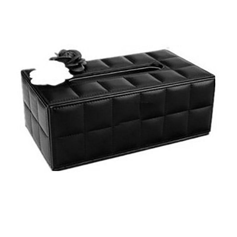 Luxury PU Leather Facial Tissue Boxes Cover Holder Towel Dispenser Container for Home Office Car Decor Paper Napkin Box Case