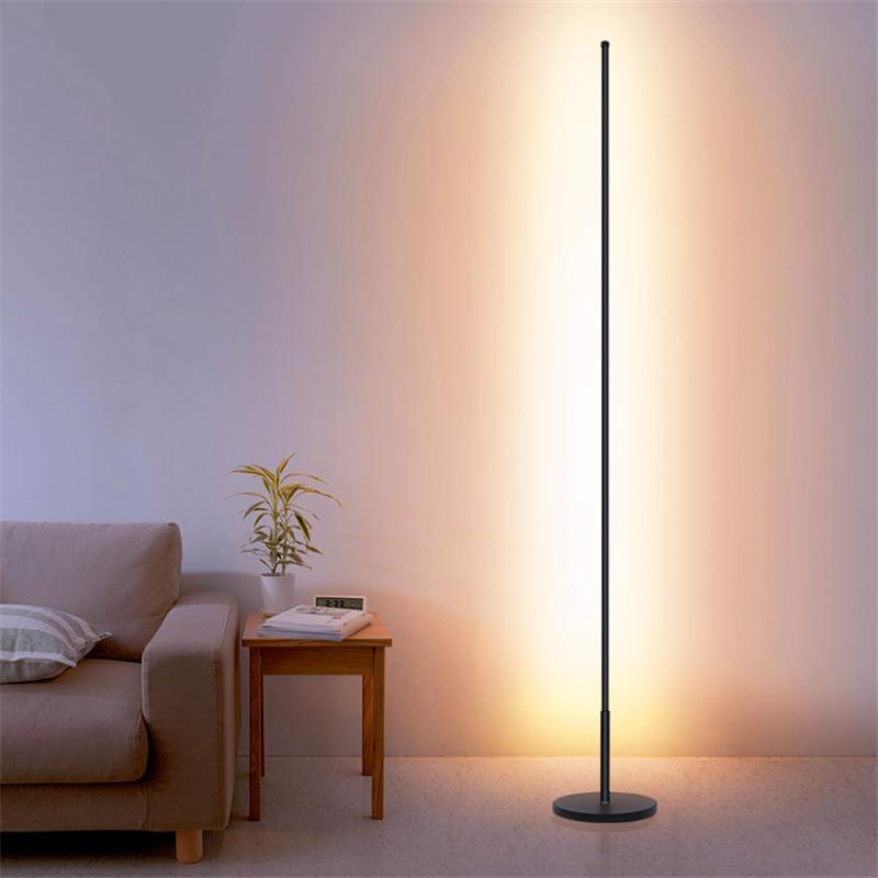 현대 LED 철 아트 긴 극 바닥 조명 조명 nnordic 거실 실내 데코 램프 침실 침대 옆 옆 수직 램프 비품