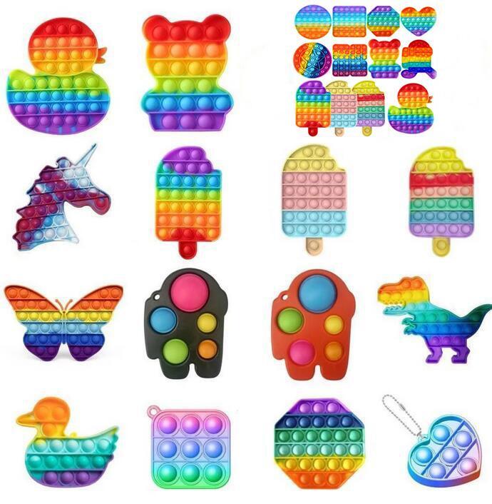 Push Pop Toy Bubble Sensory Fidget Toy Fidget Autism Stress Stress Stress It Squeeze Sensory Jouet Pour Enfants Famille Fête