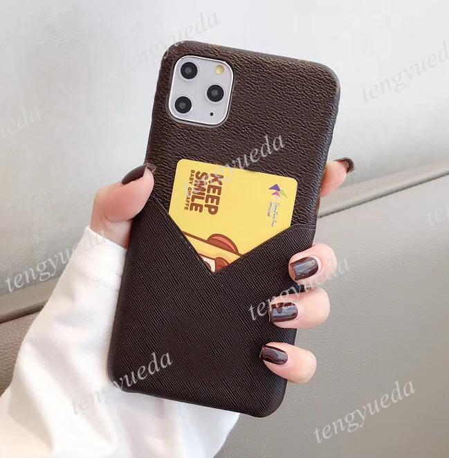 آيفون 12 برو ماكس 11 11Pro 7 8 زائد x xr xsmax مصمم الحالات الهاتف بطاقة جلدية جيب جودة عالية الأزياء غطاء الهاتف المحمول