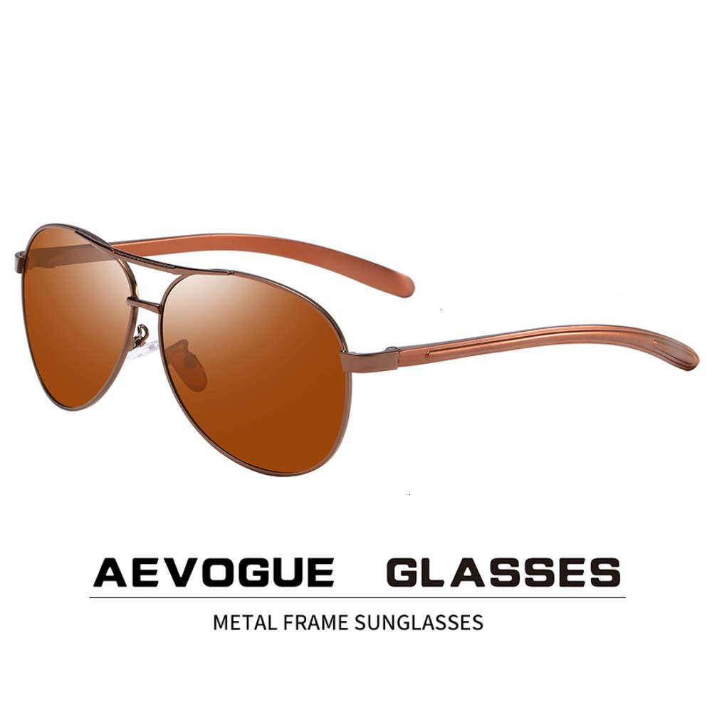 Aevogue Men Vision Night Vision Polarized Lunettes de soleil Anti-Glare Conduite Unisexe Pilot Sun Lunettes de marque design UV400 AE0875