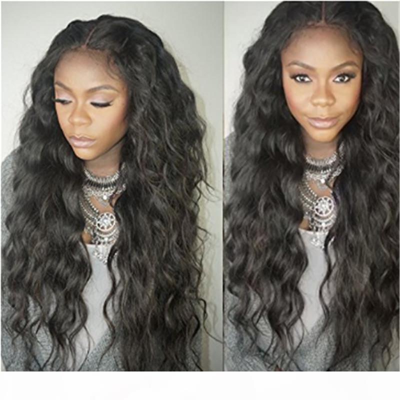 Super doux 8A non transformé Brésilien Cheveux humains de Humains naturels Vague lâche des perruques avant pour femmes noires