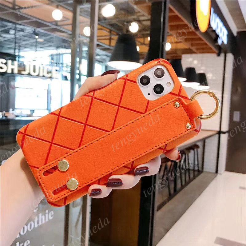 Mode Luxus Telefon Hüllen für iPhone 13 12 12 12Pro Max 11 11PRO XS XR XSMAX 7/8 plus Hohe Qualität Designer Muster Leder Armband Mobiltelefonkoffer