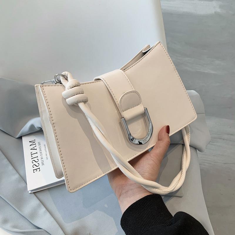 Mode Simple Messenger Sommer Neue Trendy One-Shoulder Underarmtasche Korean Casual der Version Weibliche Tote Seil 2021 Geflochtene Kairv