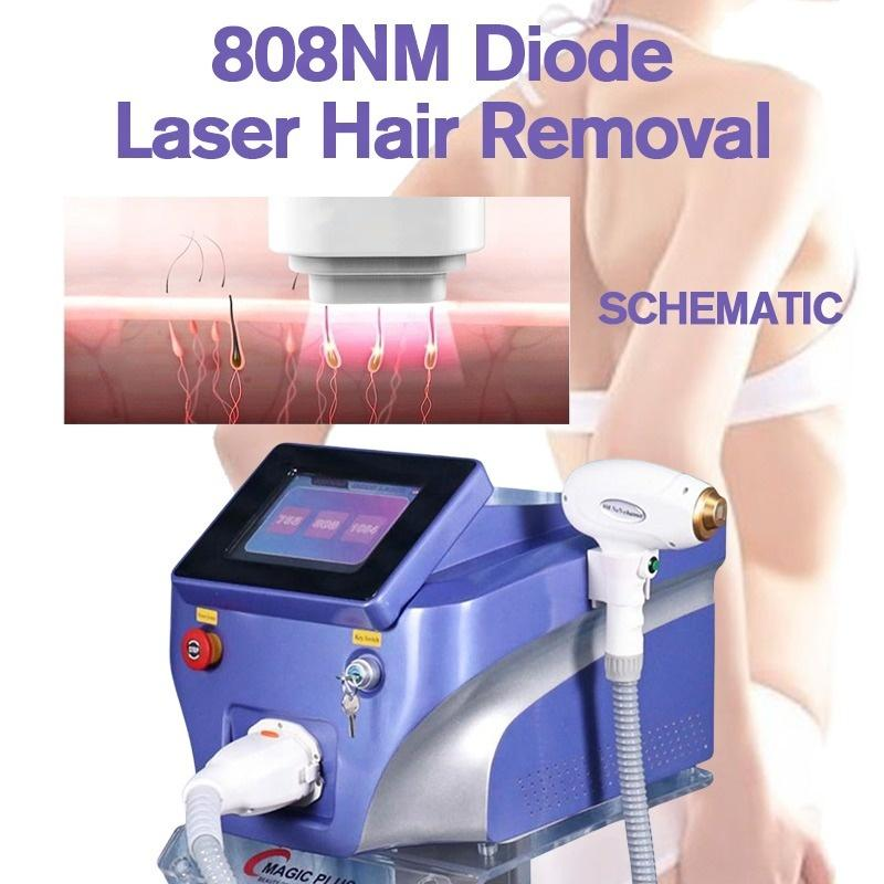 3 Wavelengths Hair Remover 808Nm 755Nm And 1064 Nm Diode Laser Hair Removal Machines, For Permanent Hair Removal
