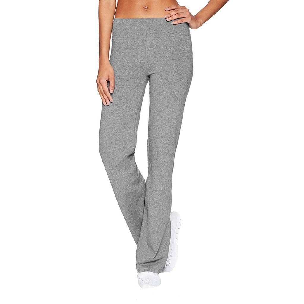 Женщины повседневный сплошной цвет Тонкие бедра Свободные брюки йоги Широкие ноги спортивные брюки тренировки фитнес брюки спортивная одежда леггинс йога брюк