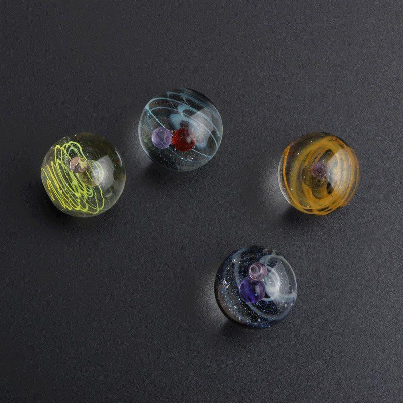Universo Galaxy Space Terp Slurper Pearls Accesorios para fumar 20 mmod Mármoles de vidrio para Biselados Edge Quartz Banger Nails Agua Bongs DAB Rigs