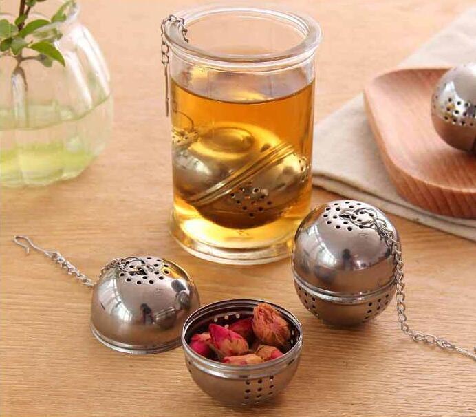 Thé à café Outils de thé Creative Acier inoxydable Forme d'oeuf Boule Infuser Filtre Tarifs Cuisine 4cm