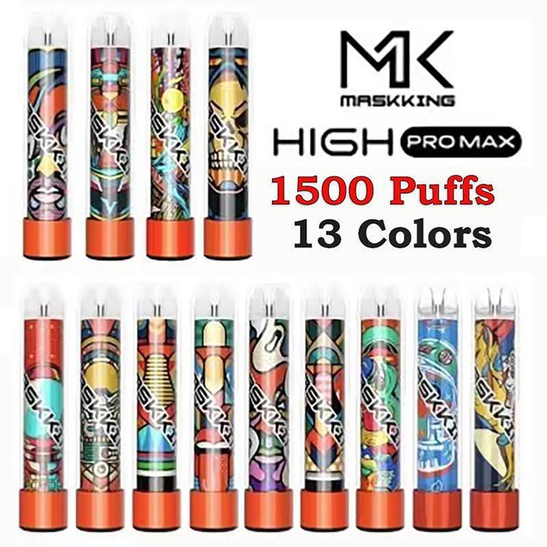 Matsking High Pro Max DisaPosable E-Cigarettes Устройство 1500 Средства 850 мАч Батарея 4,5 мл Степень COD CORTRIDGE POD VS MK GT PLUS