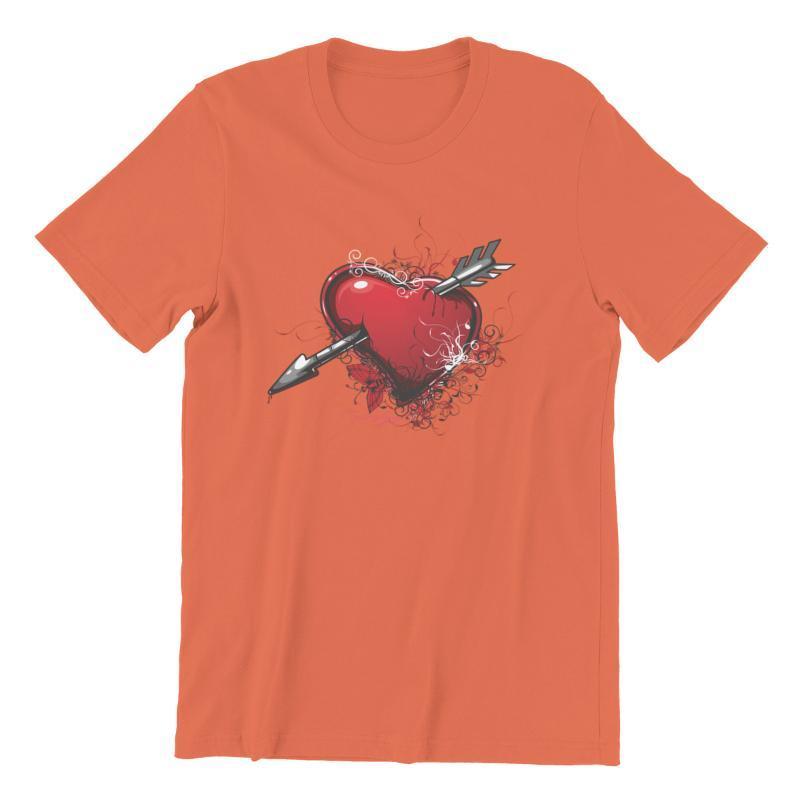 الرجال القمصان تي شيرت الأزهار القلب المتضخم قمم الجرافيك ملابس رجالي 97065