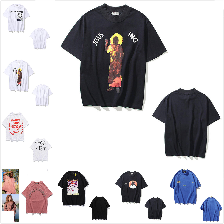 Kanye homens camiseta Mulheres de manga curta t - shirts de alta qualidade Verão T-shirt letra impressão hip hop estilo roupas