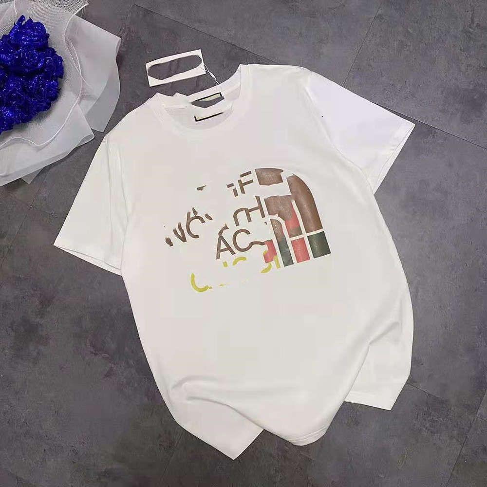 2021 New Fashion Brand Beijia CO Branded T-shirt girocollo T-shirt a manica corta Stampa Scopi Casual Semi maschii e femminili