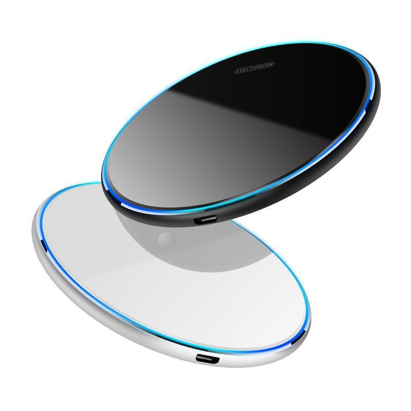 سريع 15W 10W مرآة سطح شاحن لاسلكي محول الطاقة لفون 11 12 سامسونج HTC