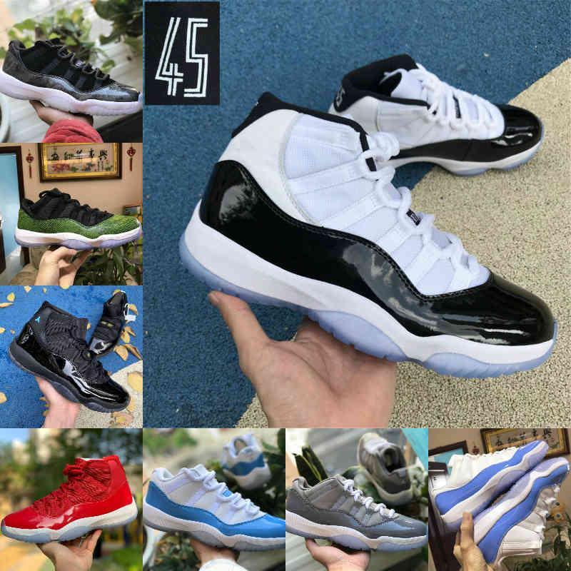 2021 اليوبيل بانتون ولدت عالية 11 11 ثانية أحذية كرة السلة أسطورة الأزرق 25th الذكرى الذكرى الفضاء جاما الأزرق عيد الفصح كونكورد 45 منخفض كولومبيا أحذية رياضية حمراء بيضاء F31