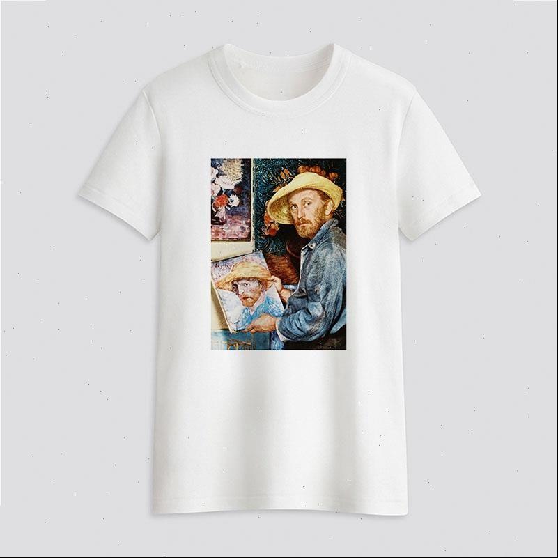 Van frauen t shirts Gogh Kunst Malerei Grafiken Hemd Weibliche Top Harajuku Straße Kleidung Casual Drop