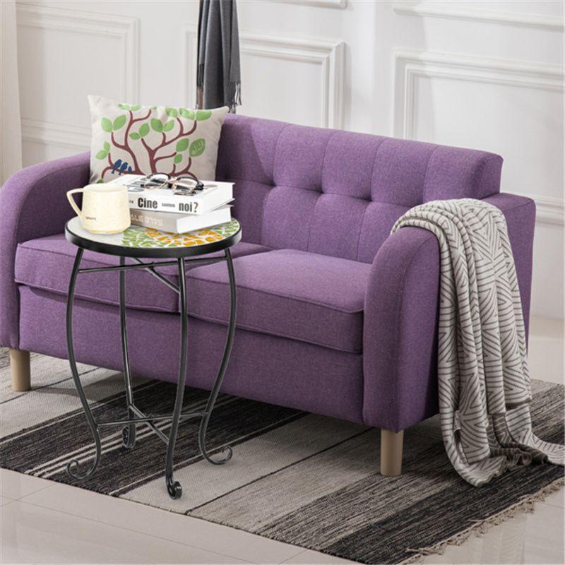 Гостиная мини-мебель стол Артизассеты терраса консоли столы круглая с цветным стеклом ананасовый узор подходит любому пространству