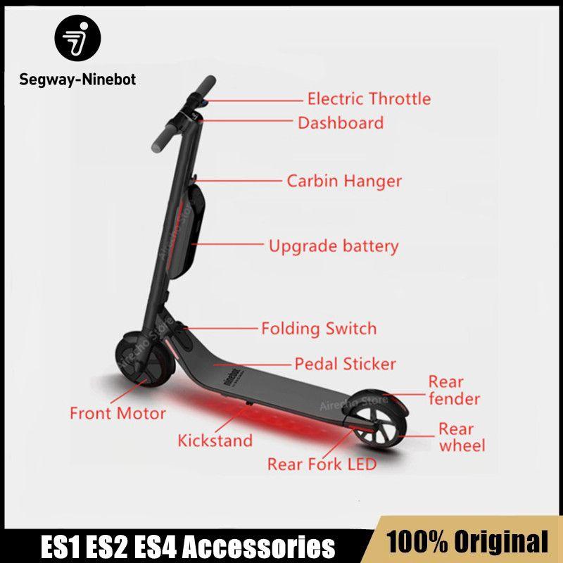 Original NineBot ES1 ES4 ES4 Contrôleur de kickboard Tableau de bord de la roue arrière Fourche de frein électrique Chargeur d'accélérateur