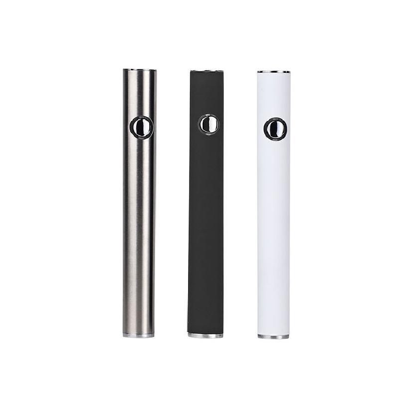 Manual Battery SF Slim 350mAh Bottom 3.3-4.8V Preheat VV Cartridge California Vape Blister Batteries Pen for 510 Thread Carts